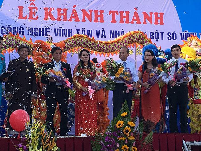 Công ty Vĩnh Tân khánh thành và đi vào hoạt động 2 nhà máy